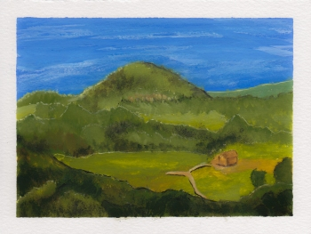 Hohenstaufen, 5x7. Gouache on watercolor block. Not for sale.